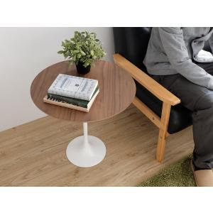 チューリップサイドテーブル ウォールナット×ホワイト エーロ・サーリネン|rmjapan