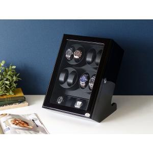 ABIES アビエス ワインディングマシーン 8本巻 縦型 ブラック×ブラック 1年保証 腕時計用ケ...