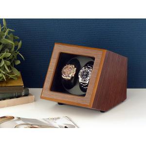 ABIES カペラ ワインディングマシーン 2本巻 ウォールナット×ブラック 1年保証 腕時計用ケース 収納|rmjapan