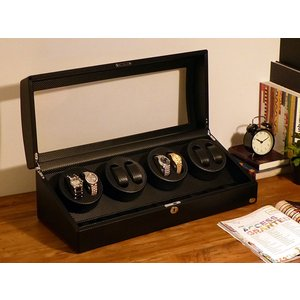 ABIES アビエス ワインディングマシーン 8本巻 カーボン調 1年保証 腕時計用ケース 収納|rmjapan|17