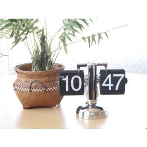 パタパタクロック ブラック フリップクロック アナログ 卓上 置き時計|rmjapan