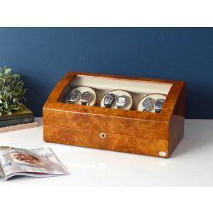 ABIES アビエス ワインディングマシーン 6本巻 ライトブラウン  1年保証 腕時計用ケース 収納|rmjapan