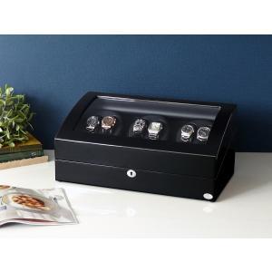 ABIES アビエス ワインディングマシーン 6本巻 ブラック×ブラック  1年保証  腕時計用ケース 収納|rmjapan