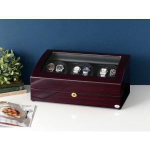 ABIES アビエス ワインディングマシーン 6本巻 ゼブラウッド×ブラック  1年保証 腕時計用ケース 収納|rmjapan
