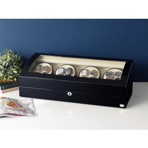 ABIES アビエス ワインディングマシーン 8本巻 ブラック×アイボリー 1年保証  腕時計用ケース 収納|rmjapan