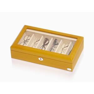 ABIES アビエス メガネケース 6本収納 メープルウッド 窓付き 眼鏡 携帯用|rmjapan