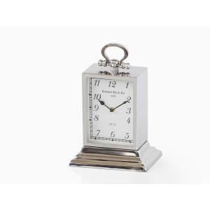 メタルテーブルクロック キャリッジ アンティーク調 アナログ 置き時計|rmjapan