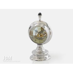 メタルテーブルクロック スケルトンムーブメント アンティーク調 置き時計|rmjapan