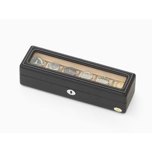 ABIES(アビエス) ウォッチケース (腕時計ケース) 6本収納 カーボン調 ウィンドウタイプ 窓付き ウォッチケース|rmjapan