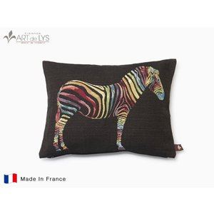 ART de LYS クッションカバー colourful zebra ブラック クッション付 rmjapan