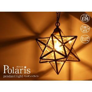 ポラリス ペンダントライト クリア 星型 シーリングランプ LED対応 |rmjapan