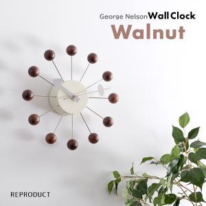 ボールクロック ウォールナットカラー ジョージ・ネルソン 掛時計 ネルソンクロック|rmjapan