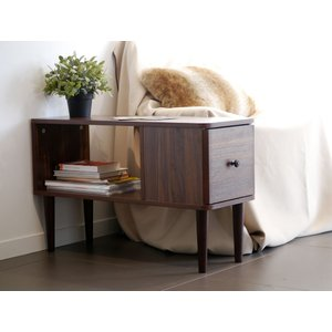 GARY ゲイリー サイドテーブル 木製 ソファサイド 収納付き|rmjapan