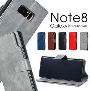 """""""○対応機種: Galaxy Note8(SC-01K/SCV37) ○素材:PUレザー+TPU ○..."""