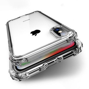 """""""4つの角に衝撃吸収構造 薄くて軽いしかも耐衝撃仕様 クリアケース  ◆対応機種: iPhone X..."""