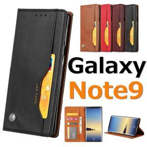 対応機種: Galaxy Note9 カラー:ワインレッド/ブラック/ブラウン/レッド ★PUレザー...
