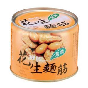 《青葉》 花生麺筋(200g/缶)(落花生(ピーナッツ)と湯葉の煮込み)-ベジタリアン用- 《台湾B級グルメ お土産》|rnet-servic