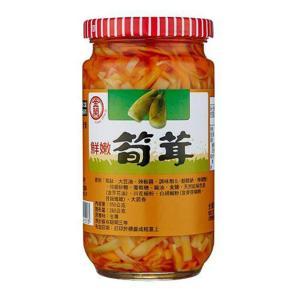 《金蘭》 鮮嫩玉筍(325g) (やわらか穂先メンマ スパイシー味−ベジタリアンOK)  《台湾 お土産》