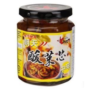 《老騾子》食べるラー油(ピクルスチリソース)朝天酸菜芯辣椒?(240g/瓶)   《台湾 お土産》|rnet-servic