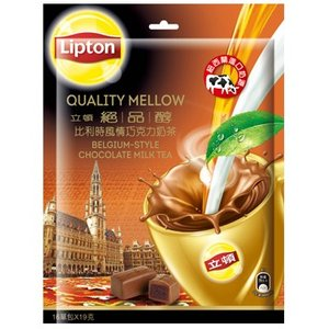 《立頓》 絶品醇比利時風情巧克力乳紅茶(19gX16入/袋)(台湾リプトン−ベルギースタイル・チョコレートミルクティー)《台湾 お土産》|rnet-servic