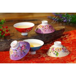 《新太源》(台湾花布柄)紅花五入響杯 (紅花茶碗・5個セット) 《台湾 お土産》|rnet-servic