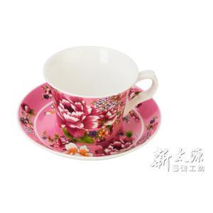 《新太源》(台湾花布柄)新牡丹珈琲カップセット - (ピンク) 《台湾 お土産》|rnet-servic