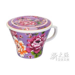 《新太源》(台湾花布柄)紅花貴族杯 (紅花ノビリテイカップ-紫) 《台湾 お土産》 rnet-servic