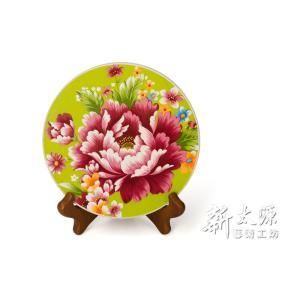 《新太源》(台湾花布柄)牡丹大熱塾 (牡丹ヒートパッド-緑) 《台湾 お土産》|rnet-servic