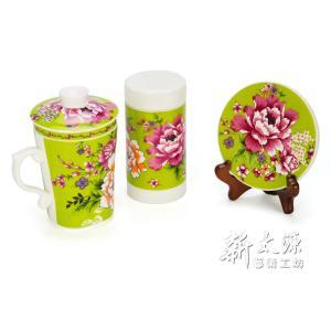 《新太源》(台湾花布柄)紅花伴手禮禮盒 (紅花ギフトセット-緑) 《台湾 お土産》|rnet-servic