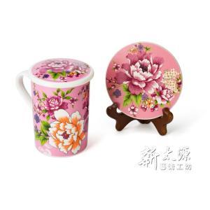 《新太源》(台湾花布柄)紅花富貴禮盒 (紅花リッチギフトセット-桃色) 《台湾 お土産》|rnet-servic