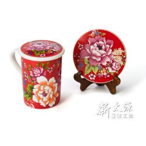 《新太源》(台湾花布柄)紅花富貴禮盒 (紅花リッチギフトセット-赤) 《台湾 お土産》|rnet-servic