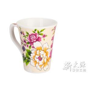《新太源》(台湾花布柄)紅花花茶杯 (紅花フラワーカップ-乳白) 《台湾 お土産》|rnet-servic