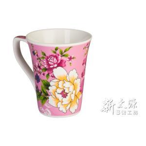 《新太源》(台湾花布柄)紅花花茶杯 (紅花フラワーカップ-桃色) 《台湾 お土産》|rnet-servic