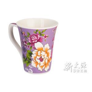 《新太源》(台湾花布柄)紅花花茶杯 (紅花フラワーカップ-紫) 《台湾 お土産》|rnet-servic