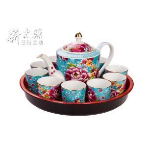 《新太源》(台湾花布柄)花開富貴十全十美禮盒 (ブルームリッチパーフェクトギフトセット-青) 《台湾 お土産》|rnet-servic