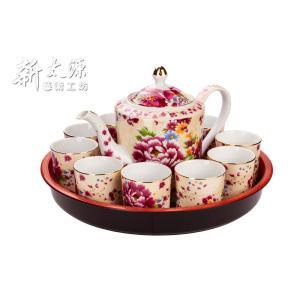 《新太源》(台湾花布柄)花開富貴十全十美禮盒 (ブルームリッチパーフェクトギフトセット-乳白) 《台湾 お土産》|rnet-servic