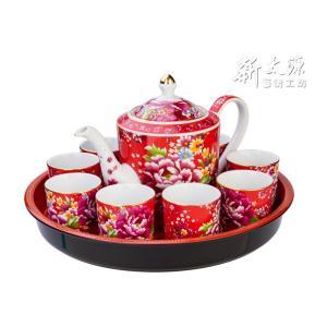 《新太源》(台湾花布柄)花開富貴十全十美禮盒 (ブルームリッチパーフェクトギフトセット-赤) 《台湾 お土産》|rnet-servic