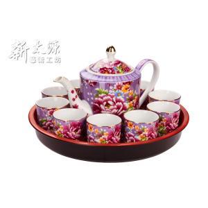 《新太源》(台湾花布柄)花開富貴十全十美禮盒 (ブルームリッチパーフェクトギフトセット--紫) 《台湾 お土産》|rnet-servic