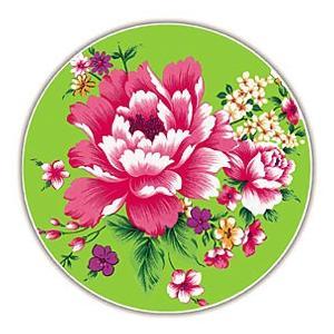 《新太源》(台湾花布柄)紅花系列吸水杯(魔法の吸水コースター 緑) 《台湾 お土産》|rnet-servic