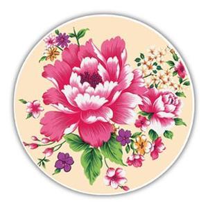 《新太源》(台湾花布柄)紅花系列吸水杯(魔法の吸水コースター 乳白) 《台湾 お土産》|rnet-servic