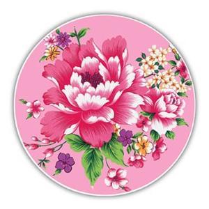 《新太源》(台湾花布柄)紅花系列吸水杯(魔法の吸水コースター 桃) 《台湾 お土産》|rnet-servic