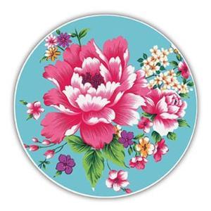 《新太源》(台湾花布柄)紅花系列吸水杯(魔法の吸水コースター 青) 《台湾 お土産》|rnet-servic