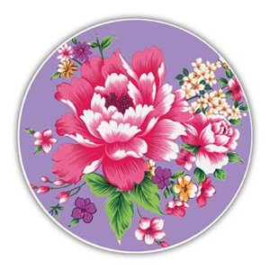 《新太源》(台湾花布柄)紅花系列吸水杯(魔法の吸水コースター 紫) 《台湾 お土産》|rnet-servic