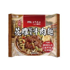 《台酒 TTL》 花雕酸菜牛肉麺200g×3袋(老酒煮込牛肉ラーメン) 《台湾B級グルメ お土産》|rnet-servic