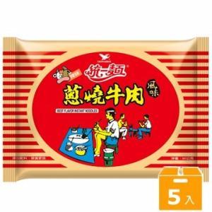 《統一》 ネギ燒牛肉風味  (90g×5袋 ) (葱焼肉風味・ラーメン) 《台湾B級グルメ お土産》|rnet-servic