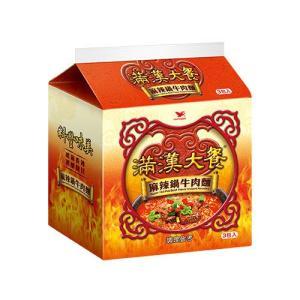 《統一》 滿漢大餐 麻辣鍋牛肉麺 (200g×3袋) (スパイシー煮込牛肉ラーメン) 《台湾B級グルメ お土産》|rnet-servic