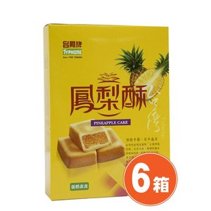 《台鳳牌》鳳梨酥 6片入 162g(パイナップルケーキ)×6箱  《台湾 お土産》(▼380円値引)|rnet-servic