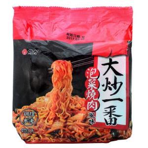 《維力》 大炒一番 泡菜燒肉風味麺  (85g×4袋 ) (豚肉キムチ・ラーメン) 《台湾B級グルメ お土産》|rnet-servic