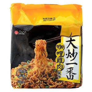 《維力》 大炒一番 加哩鶏肉風味麺  (85g×4袋 ) (チキンカレー・ラーメン) 《台湾B級グルメ お土産》|rnet-servic