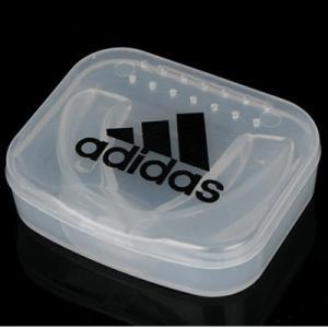 アディダス(adidas) ボクシング マウスピース  ADIBP09  TSクリアー色 シングルタイプ   大人用 子供用    ケース付き